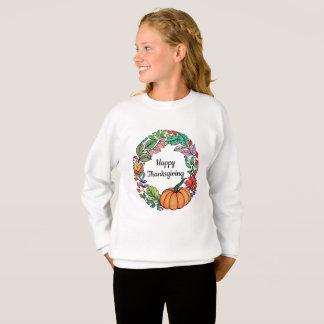 Agasalho Grinalda bonita da abóbora da aguarela com folhas