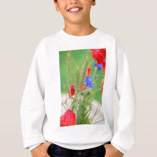 Agasalho Grupo de papoilas, de cornflowers e das orelhas