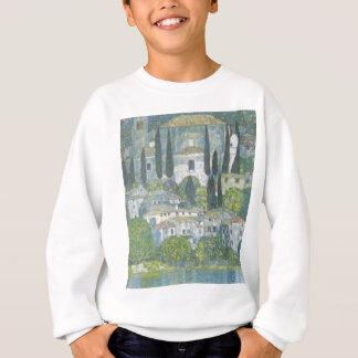 Agasalho Gustavo Klimt - igreja no trabalho de arte de