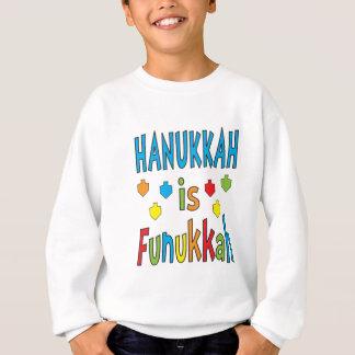 "Agasalho ""Hanukkah é camisola de Funukkah"" com Dreidels"