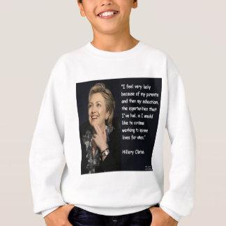 """Agasalho Hillary Clinton """"minhas citações dos pais & da"""