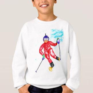 Agasalho Ilustração do esporte do esquiador