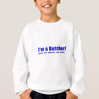 Agasalho Im um carniceiro perguntam-me sobre minha carne