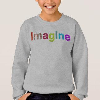 Agasalho Imagine o t-shirt colorido da inspiração do
