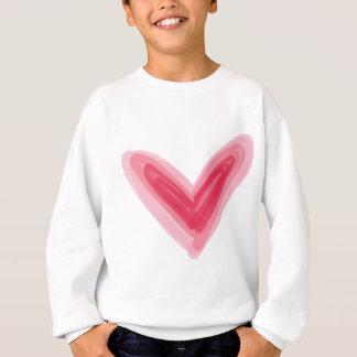 Agasalho Impressão cor-de-rosa bonito do coração, amor