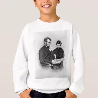 Agasalho Lincoln que lê com filho Tad caçoa a camisola