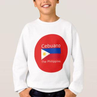 Agasalho Língua de Cebuano e bandeira de Filipinas