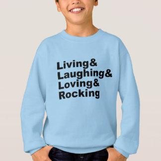 Agasalho Living&Laughing&Loving&ROCKING (preto)