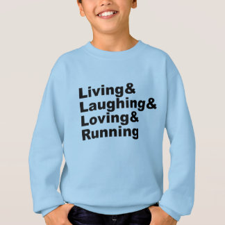 Agasalho Living&Laughing&Loving&RUNNING (preto)