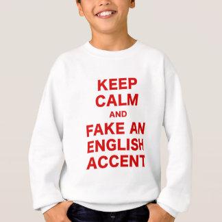 Agasalho Mantenha a calma e falsifique um acento inglês