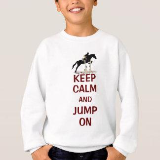 Agasalho Mantenha a calma e salte no cavalo