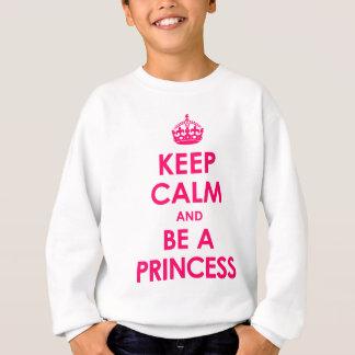 Agasalho Mantenha a calma e seja uma princesa Menina