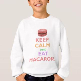 Agasalho Mantenha calmo e coma Macarons