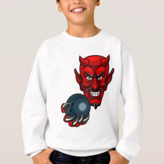 Agasalho Mascote dos esportes da boliche do diabo