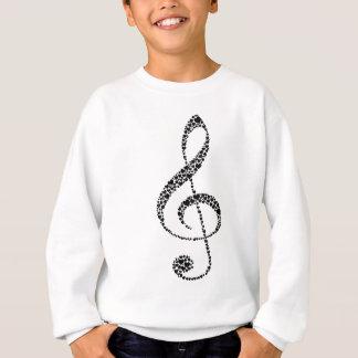 Agasalho Meu coração está na música (o design preto)