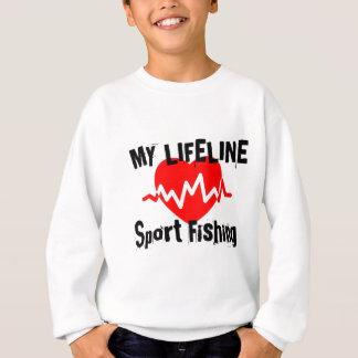 Agasalho Minha linha de vida pesca desportiva ostenta o