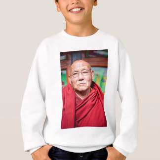 Agasalho Monge budista na veste vermelha