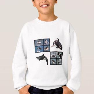 Agasalho Mosaico das fotos de baleias de assassino