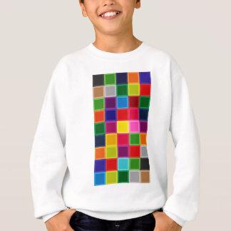Agasalho Multi quadrados e listras coloridos femininos
