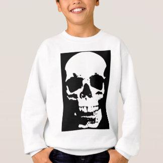 Agasalho Na moda preto & branco do crânio do pop art legal