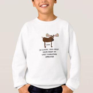 Agasalho Não uma PARTE SUPERIOR Camisola-Engraçada do Natal