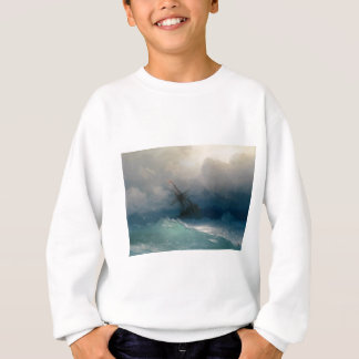 Agasalho Navio em mares tormentosos, Ivan Aivazovsky -