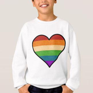 Agasalho O amor de LGBT é coração do arco-íris do amor