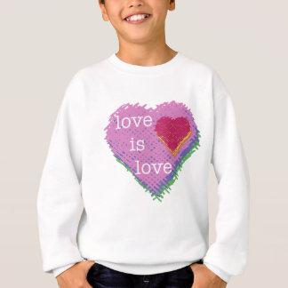 Agasalho O amor é coração Sweathshirt do amor