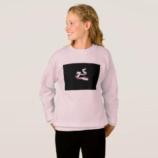 Agasalho O balé Pointe calça a camisola (rosa & o preto)