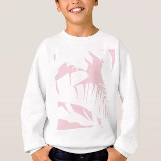 Agasalho O branco na banana tropical cor-de-rosa deixa o