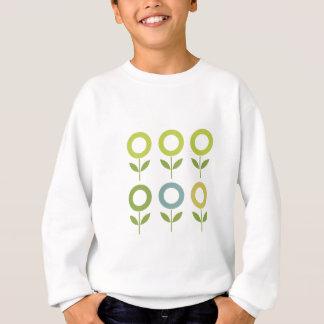 Agasalho O design floresce o verde no branco