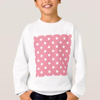 Agasalho O design pontilha o branco no doce cor-de-rosa