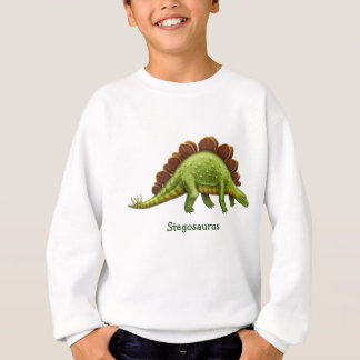 Agasalho O dinossauro verde do Stegosaurus caçoa a camisola