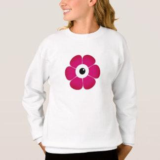Agasalho o olho da flor cor-de-rosa