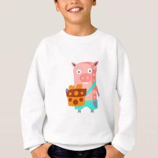 Agasalho O porco com partido atribui Funky estilizado