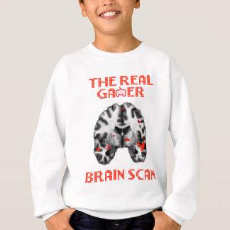 Agasalho O t-shirt real da varredura de cérebro do gamer