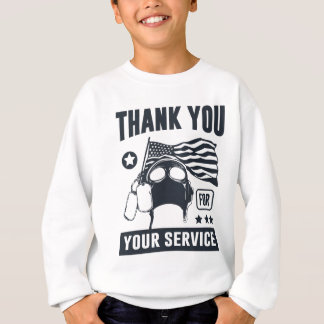 Agasalho Obrigado para seu serviço