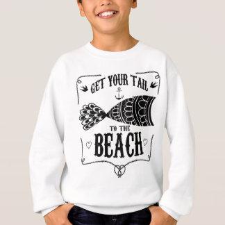 Agasalho Obtenha sua cauda à praia