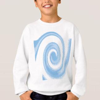 Agasalho Onda espiral gráfica azul e branca de Digitas