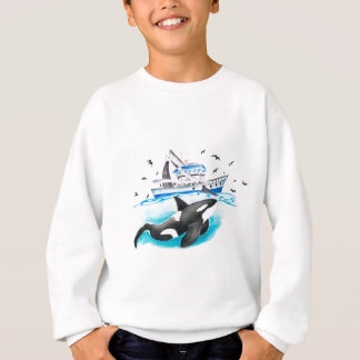 Agasalho Orca e o barco