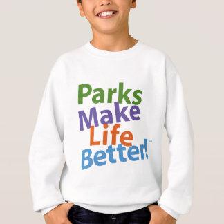 Agasalho Os parques fazem a vida melhor! Logotipo oficial