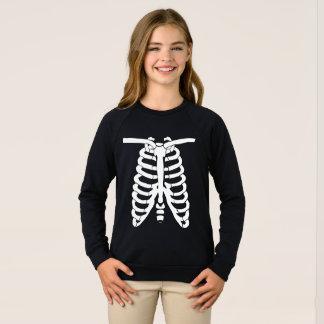 Agasalho Ossos de esqueleto brancos do raio X