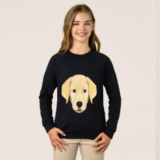 Agasalho Ouro Retriver do filhote de cachorro da ilustração