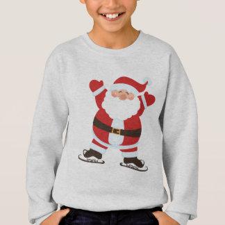 Agasalho Papai Noel em desenhos animados bonitos dos skates