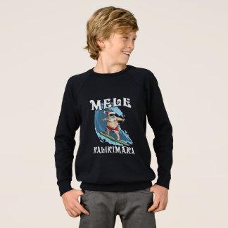 Agasalho Papai noel engraçado de Mele Kalikimaka que surfa