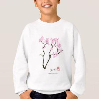 Agasalho pássaro branco do olho da flor de sakura,