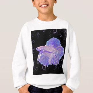 Agasalho Peixes de combate roxos iridescentes