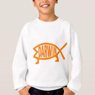 Agasalho Peixes originais de Darwin (luz - laranja)