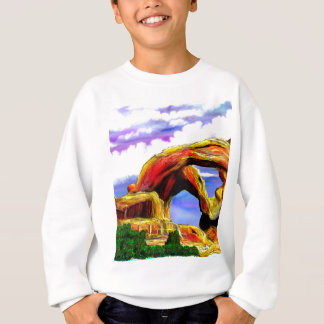 Agasalho Pintura de paisagem dobro do arco