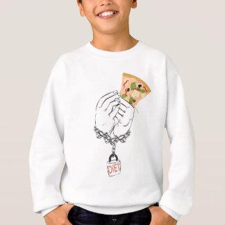 Agasalho Pizza saboroso e mãos dos desenhos animados